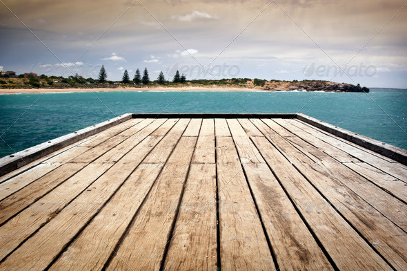 Stormy Jetty - Stock Photo - Images