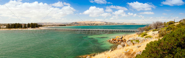 Victor Harbour Panorama - Stock Photo - Images