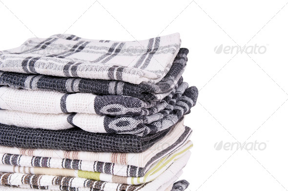 Tea Towels Isolated - Stock Photo - Images