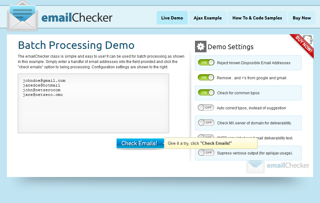 emailChecker - Ultimate Email Hygiene!