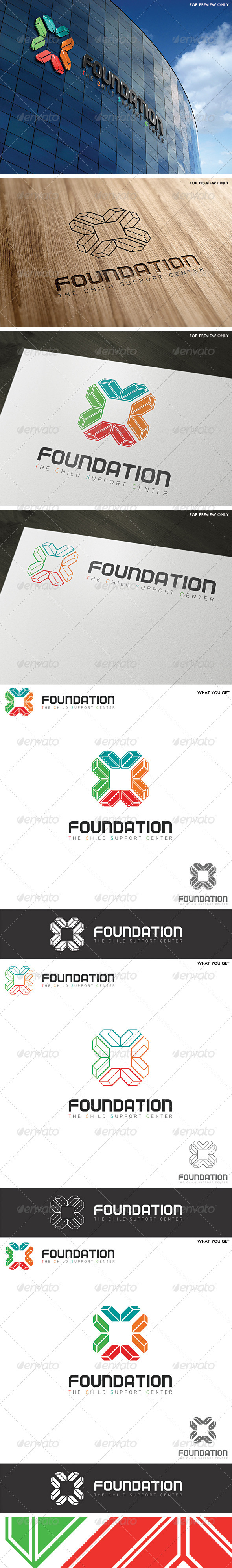 GraphicRiver Foundation Support Center Logo Template 3793467