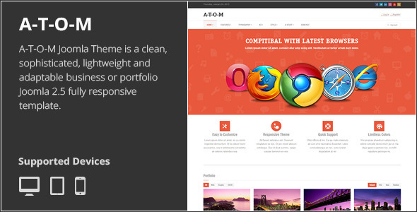 ThemeForest A-T-O-M Responsive Multipurpose Joomla Theme 3908568