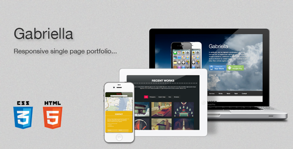 Gabriella - Responsive One Page Template