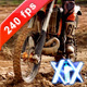 Motocross Biker In Mud 240fps - VideoHive Item for Sale