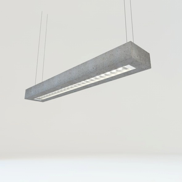 concrete tube light - 3DOcean Item for Sale