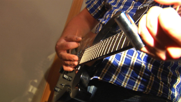 Playing At Guitar 2