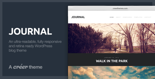 ThemeForest Journal Responsive Readable WordPress Blog Theme 3921914