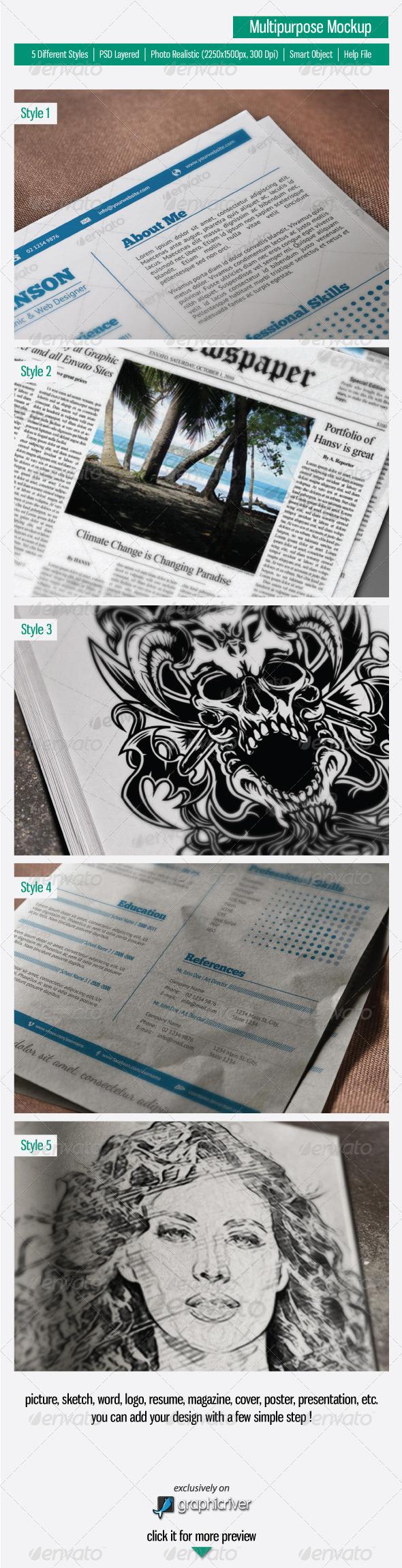 Multipurpose Mock-Up - Miscellaneous Print