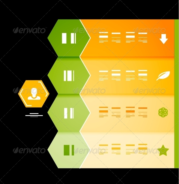 GraphicRiver Infographic numbered banners 3927435