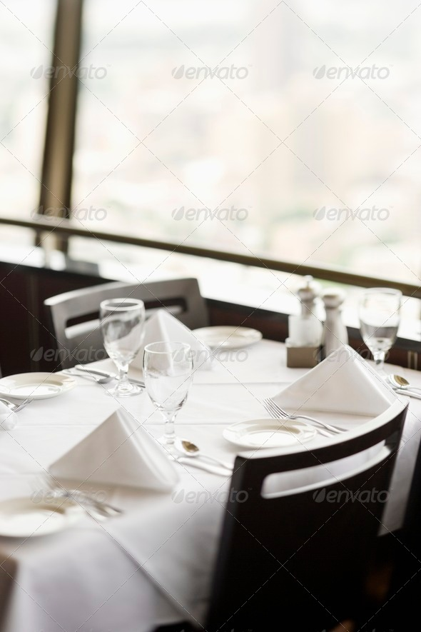 Table in Restaurant - Stock Photo - Images