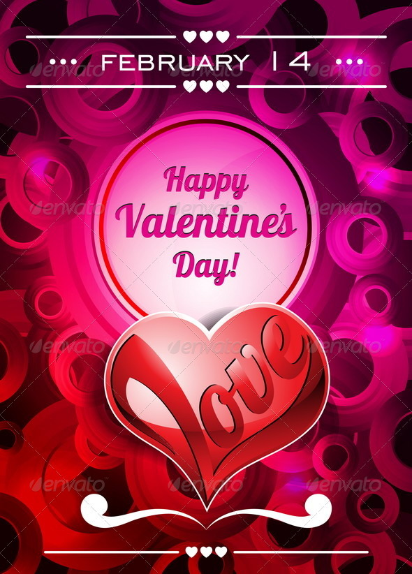 GraphicRiver Valentines Day illustration with text space 3927886