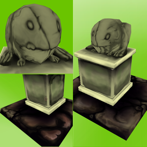 3DOcean Low Poly Frog Statue 3928088