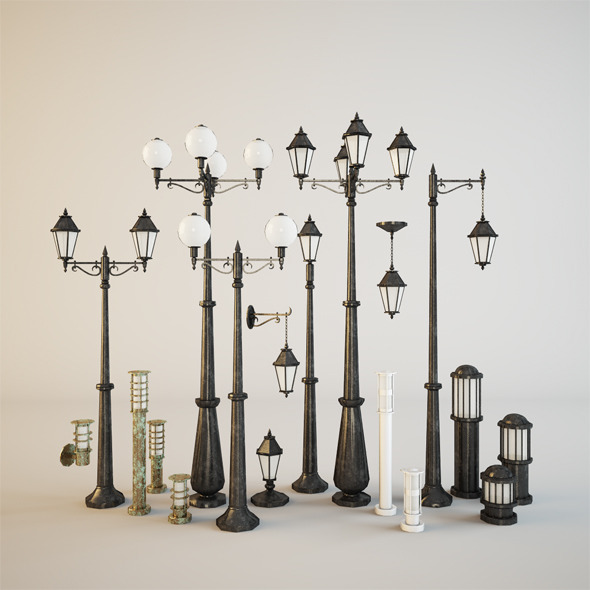 3DOcean Street lamps 3915773