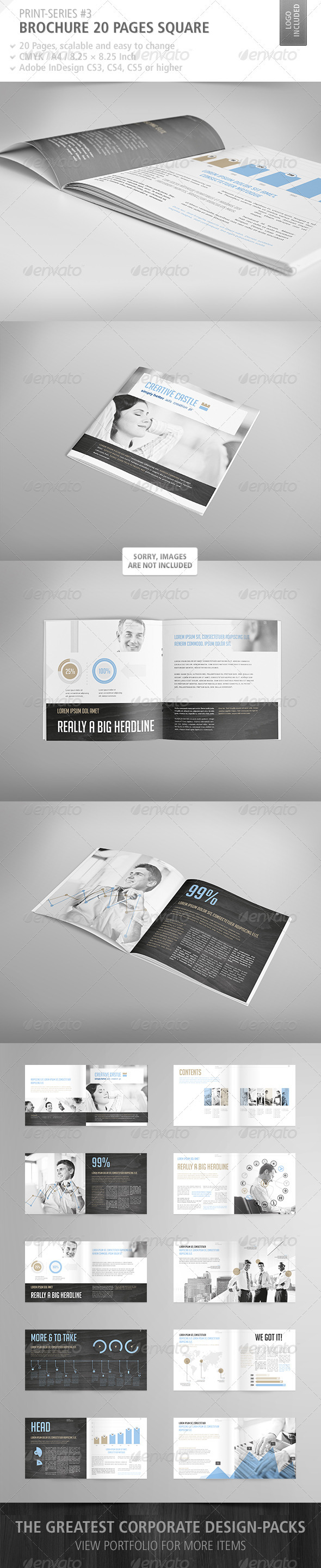 GraphicRiver Brochure Square 20 Pages Print-Series #3 3928251