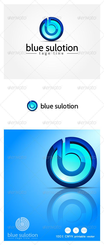 GraphicRiver Blue Solution 3D Logo 3928273