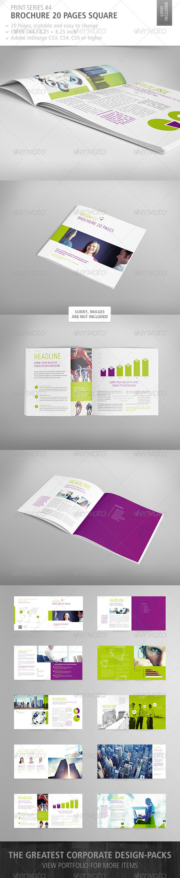 GraphicRiver Brochure Square 20 Pages Print-Series #4 3928309