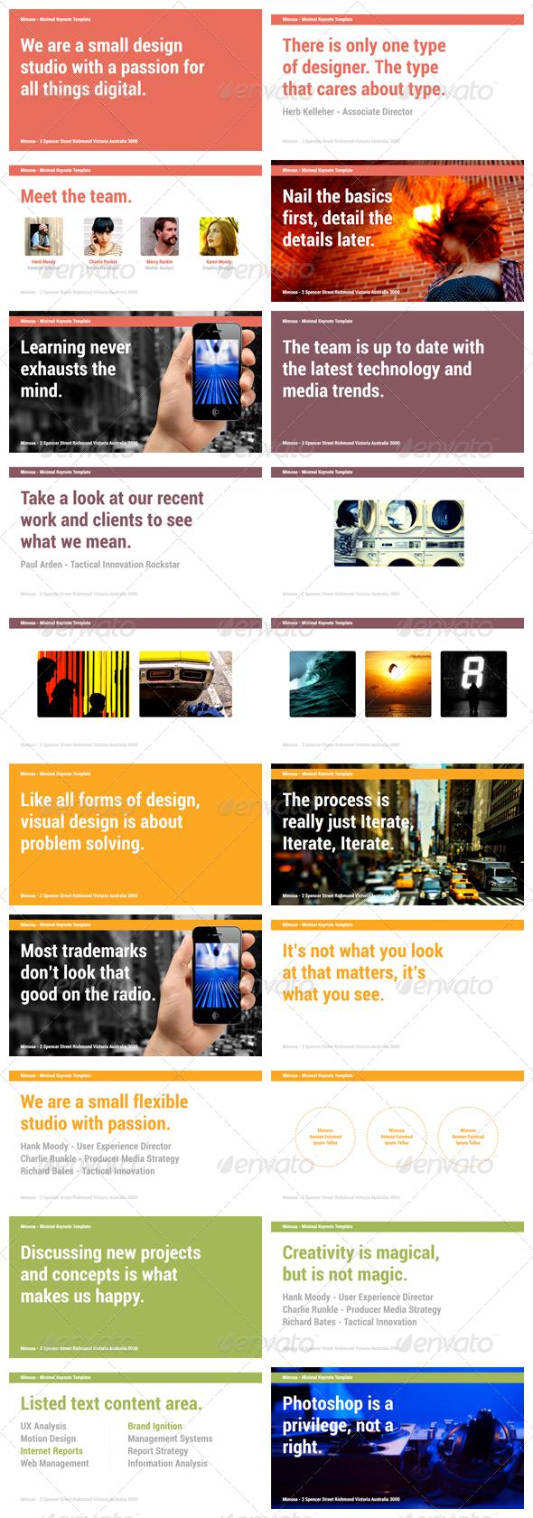 Mimosa - Keynote Presentation Template - Creative Keynote Templates