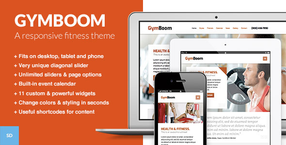GymBoom - A Fitness Gym WordPress Theme