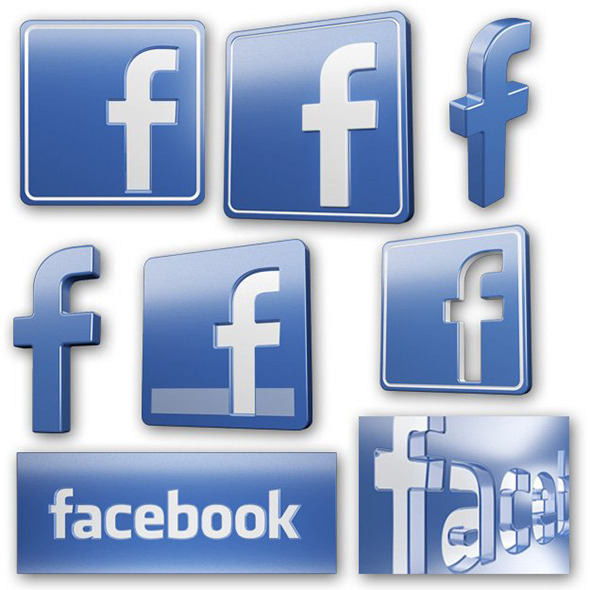 3DOcean Facebook Icons and Logos 3929052