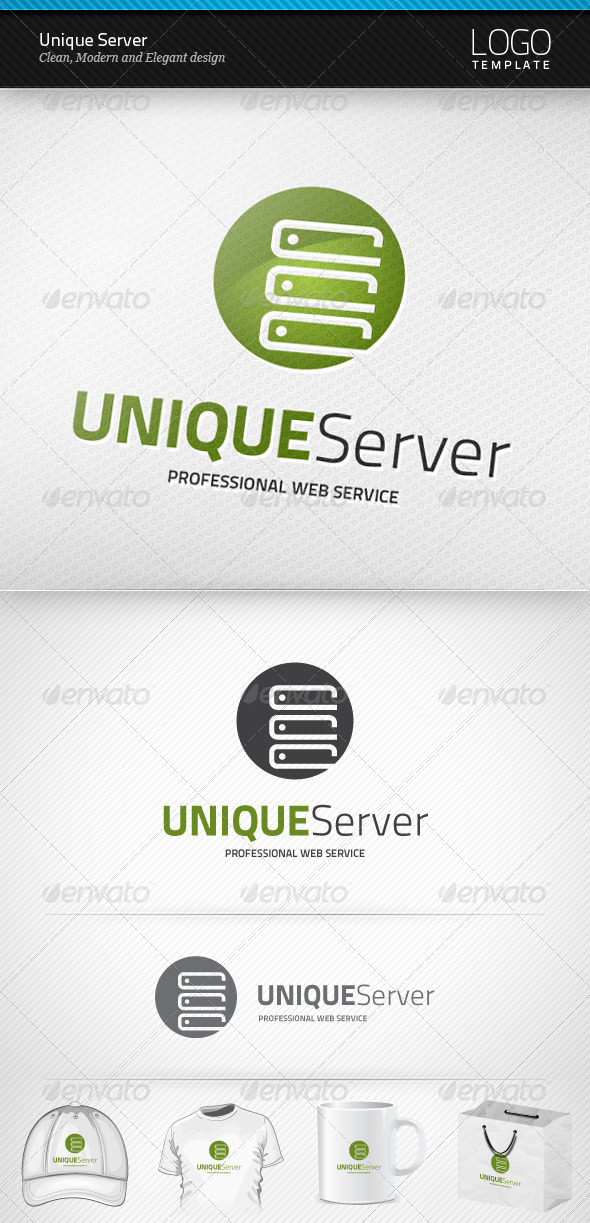 GraphicRiver Unique Server Logo 3929203