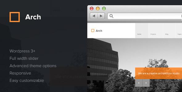 ThemeForest Arch Responsive Architect WordPress Theme 3915304