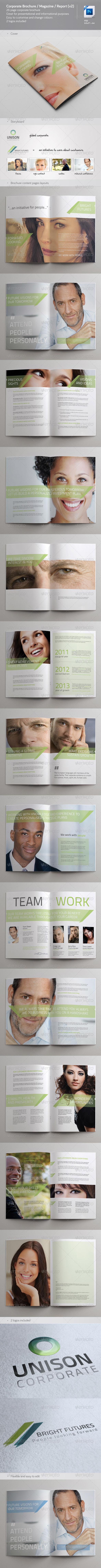 GraphicRiver Corporate Brochure Magazine Report v2 3848898