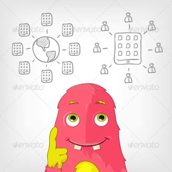 GraphicRiver Funny Monster 3929489