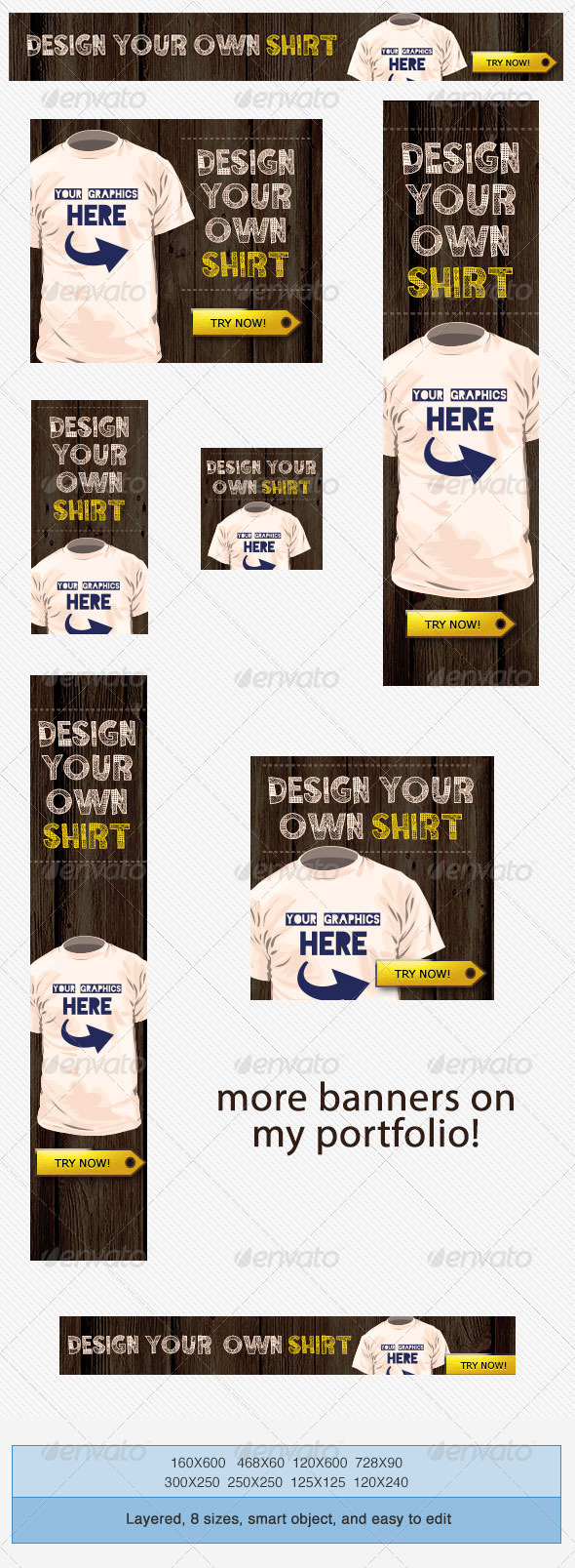 GraphicRiver T Shirts Design Banner Ad Template 3823827