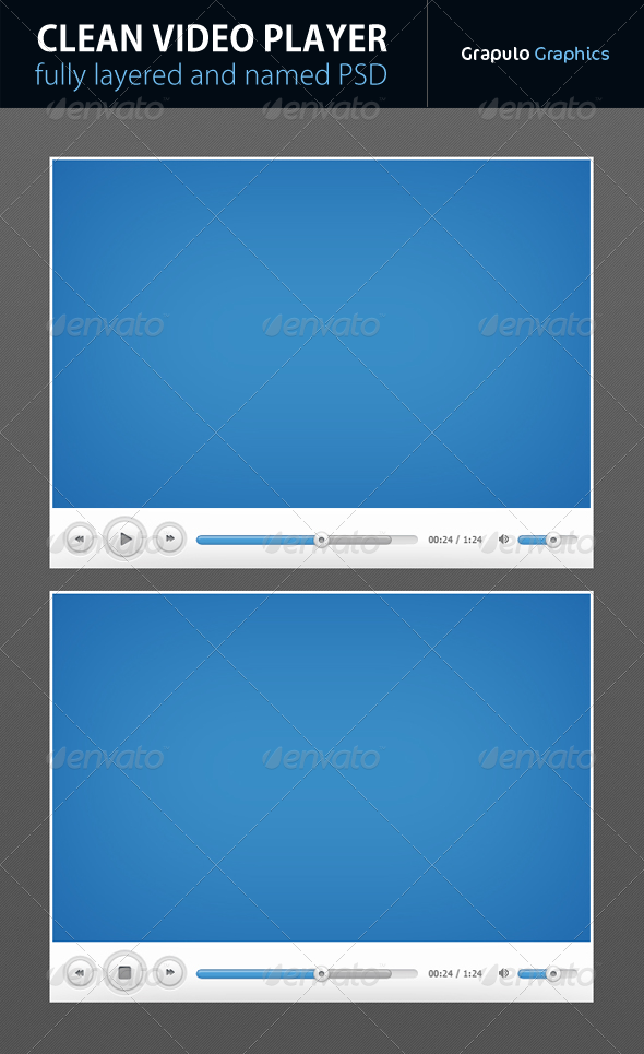 GraphicRiver Clear Video Player 3929592