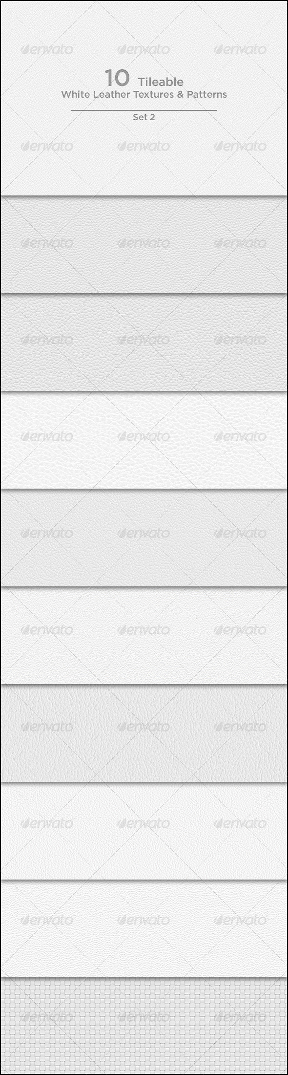 GraphicRiver 10 Tileable White Leather Textures Patterns 3929759