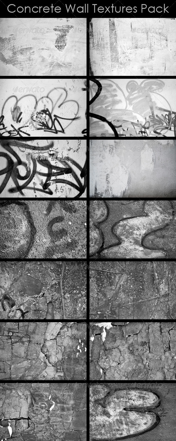 GraphicRiver Concrete Wall Textures Pack 3929812
