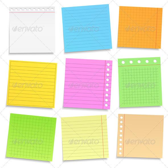 GraphicRiver Colored Paper 3930215