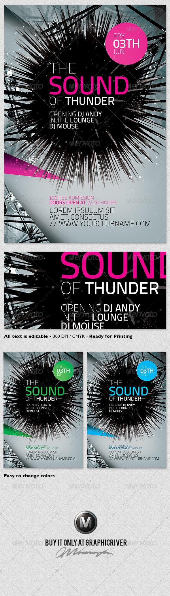 GraphicRiver Futuristic Flyer Template Vol.01 3930225