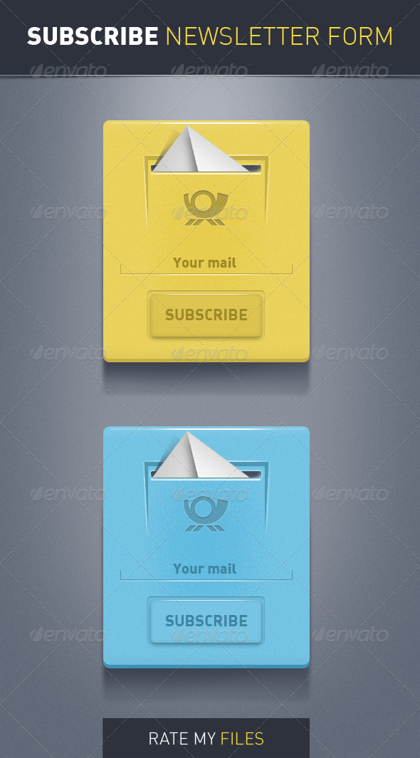 GraphicRiver Subscribe Newsletter Forms 3930405