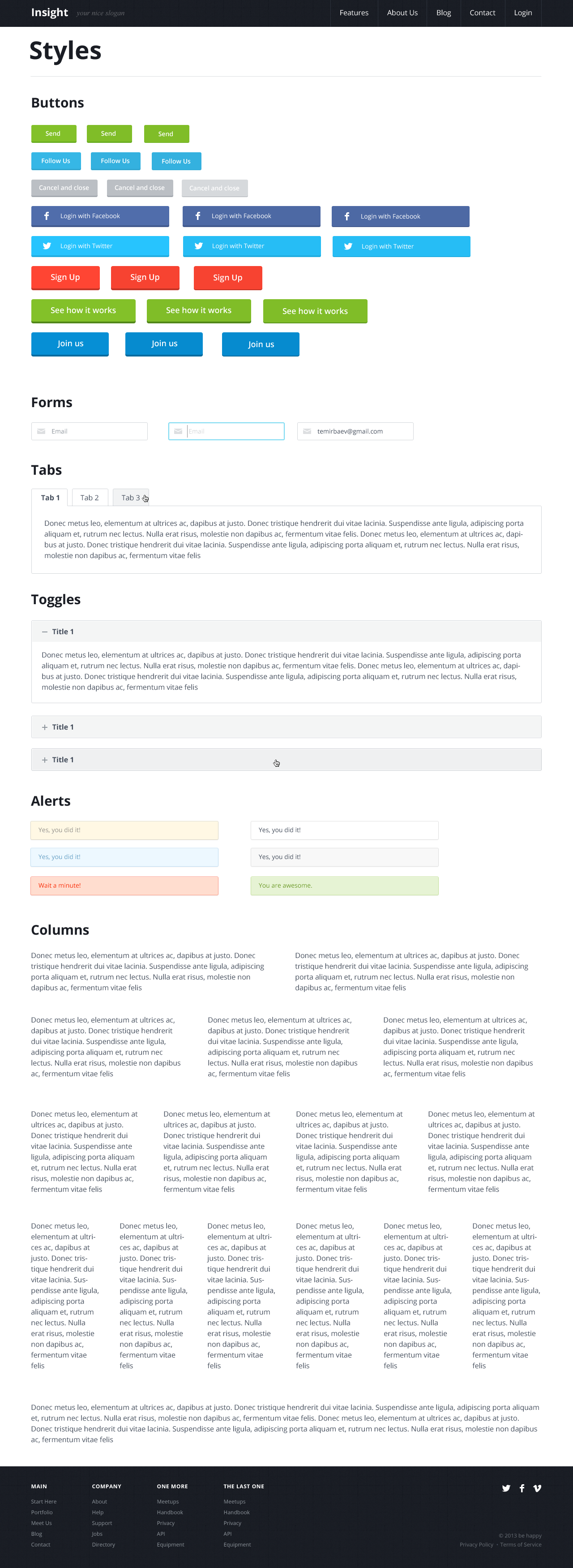 Insight Product Template