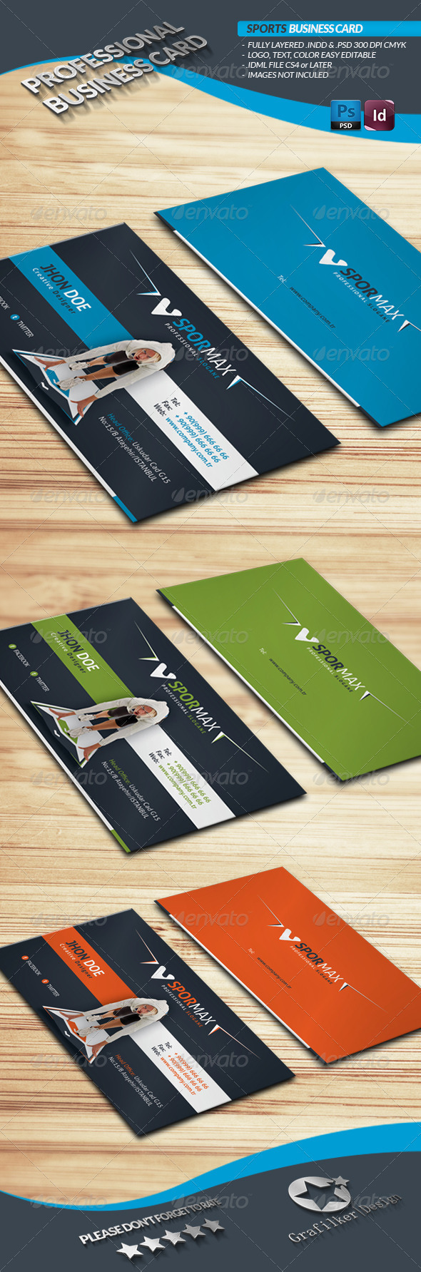 GraphicRiver Sports Business Card 3930791