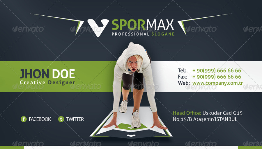 Sports Business Card by grafilker