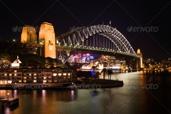 Sydney Harbour Bridge, Australia - Stock Photo - Images