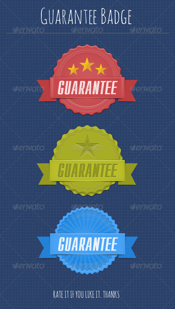 Guarantee Badges - Badges & Stickers Web Elements