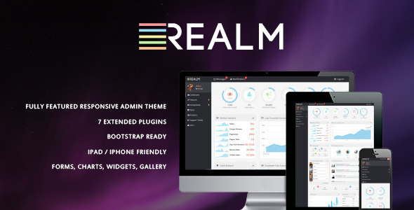 The Realm - Clean & Modern Admin Template - Admin Templates Site Templates