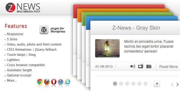 CodeCanyon Z-News Multimedia Post 3931373