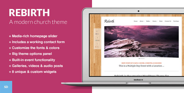 Rebirth - The WordPress Theme for Churches - Churches Nonprofit