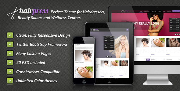 Hairpress - HTML Template for Hair Salons