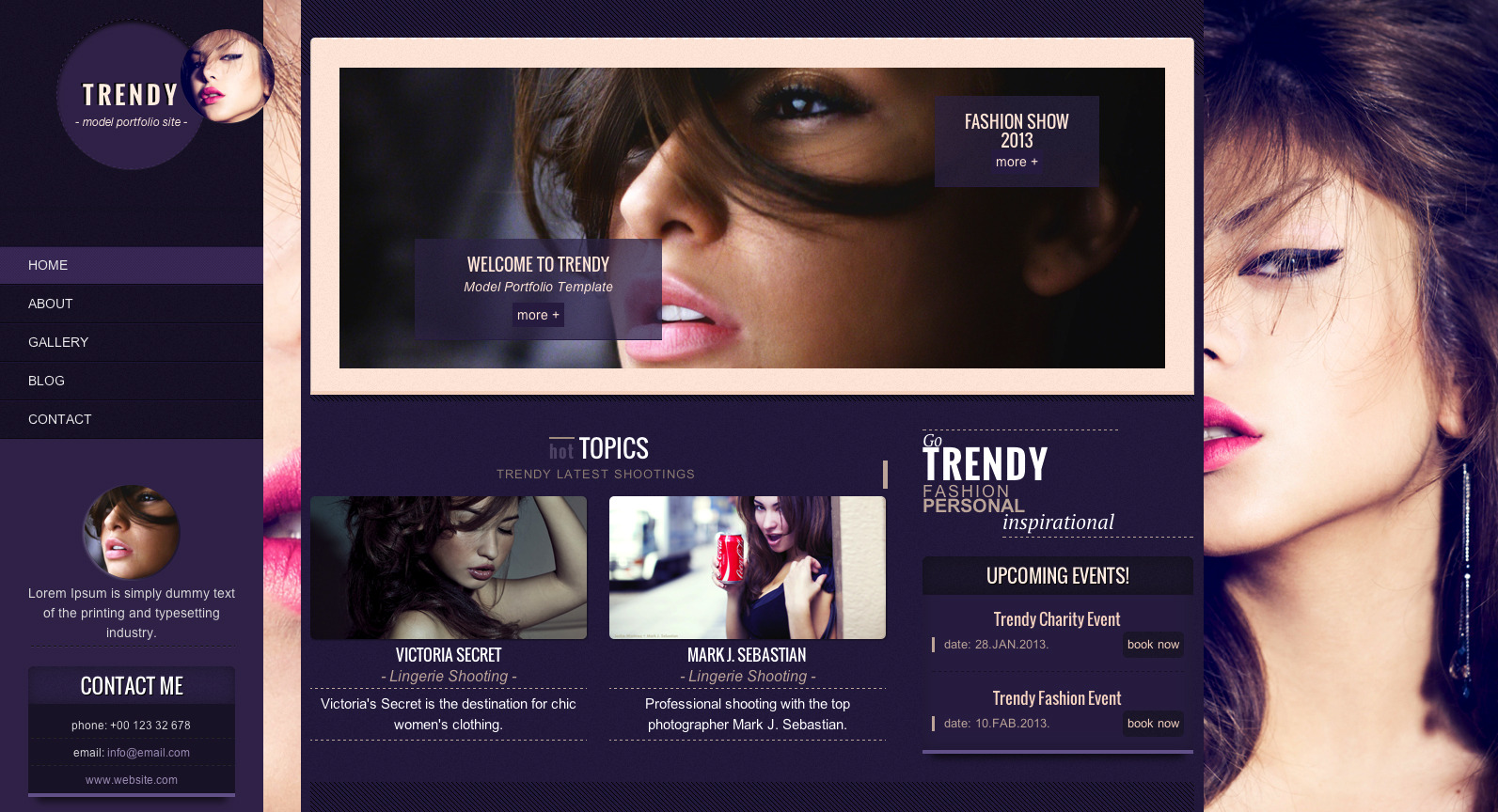 Trendy - Fashion Responsive Site Template