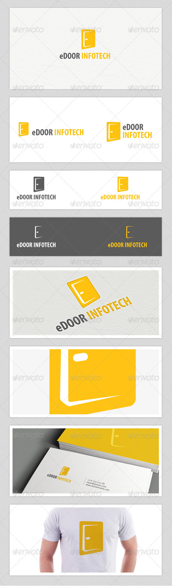 eDoor Infotech Logo - Letters Logo Templates