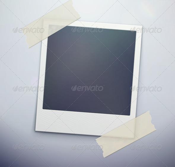 GraphicRiver retro polaroid photo frame 3932659