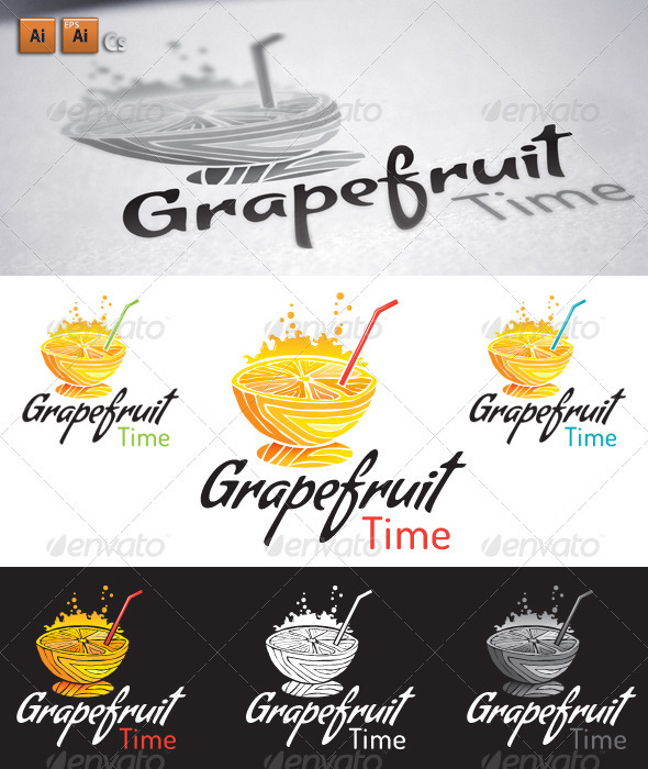 Grapefruit - Food Logo Templates