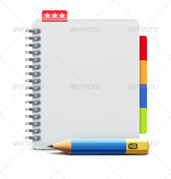 GraphicRiver spiral notebook 3933007