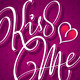 Kiss Me Hand Lettering Vector - GraphicRiver Item for Sale