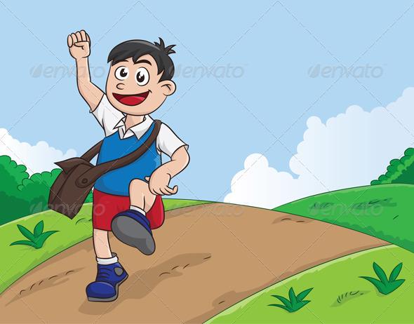 GraphicRiver Schooling Boy 3933945
